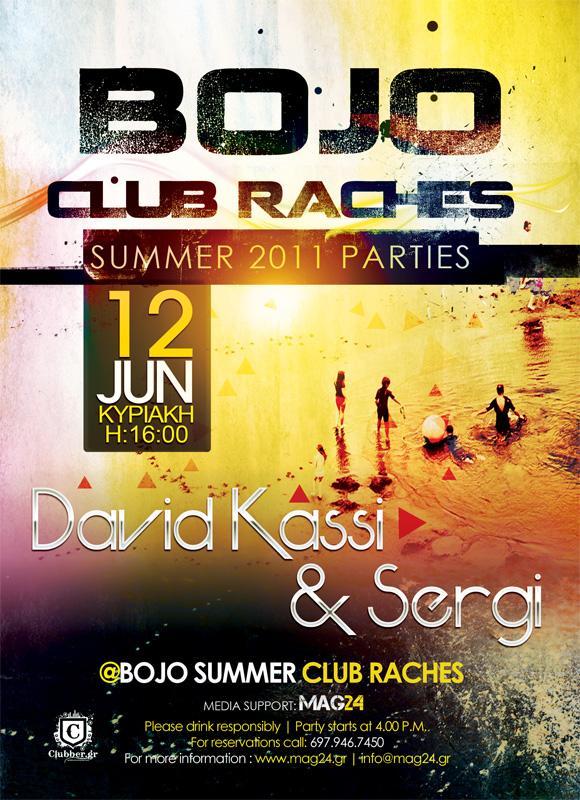 Bojo Davis Kassi - Sergi  - Party Poster